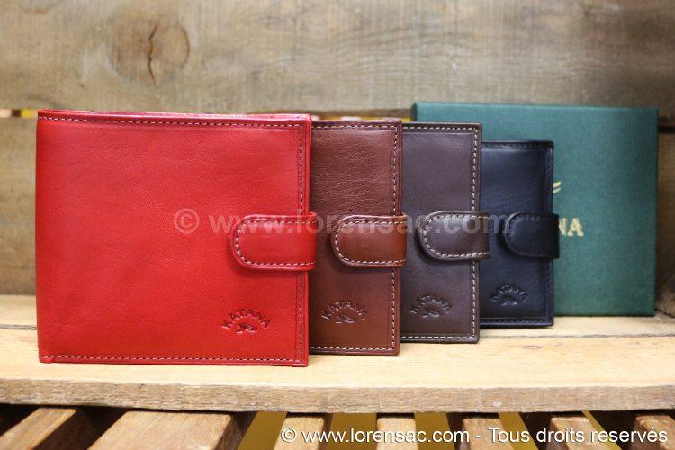 ensemble portefeuille rouge marron chocolat et noir avec coffret