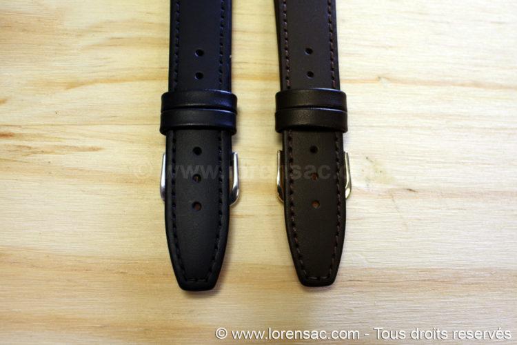 bracelets montres noir et chocolat