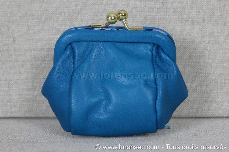 e1d3b3b86 Porte monnaie nœud papillon bleu