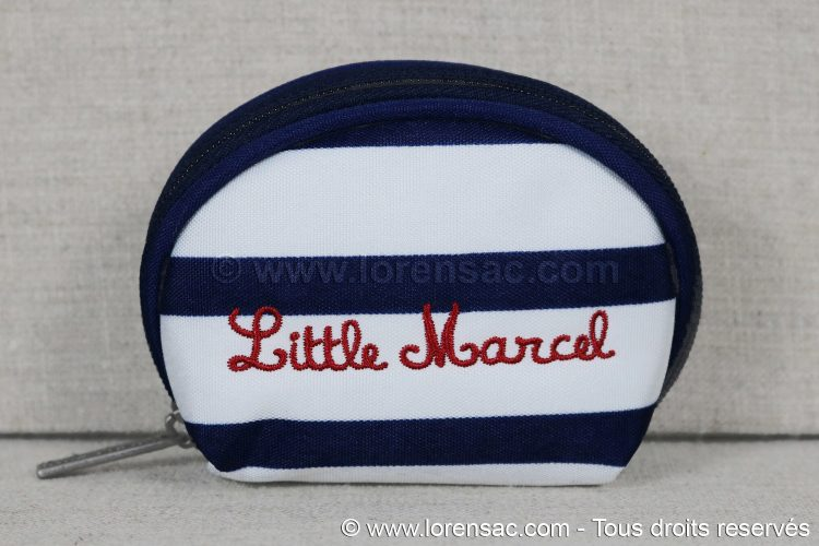 Face avant du porte monnaie Little Marcel imprimé Marin