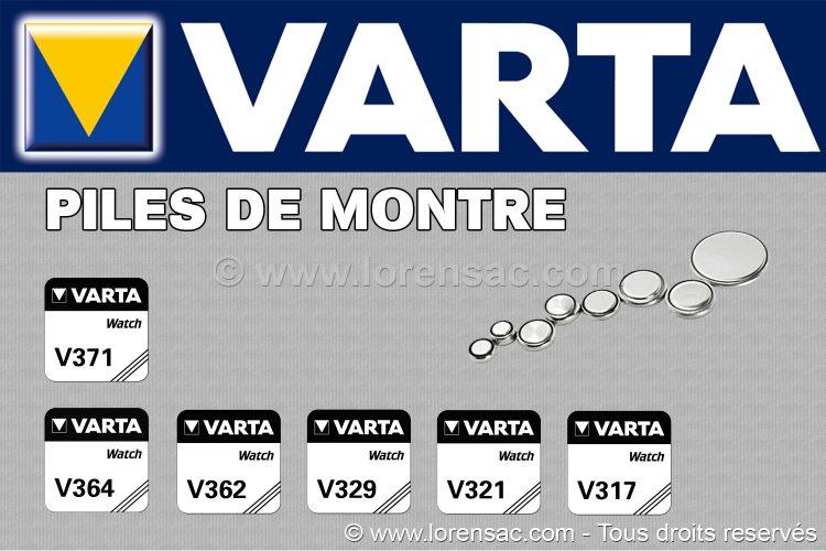 Piles de montre VARTA