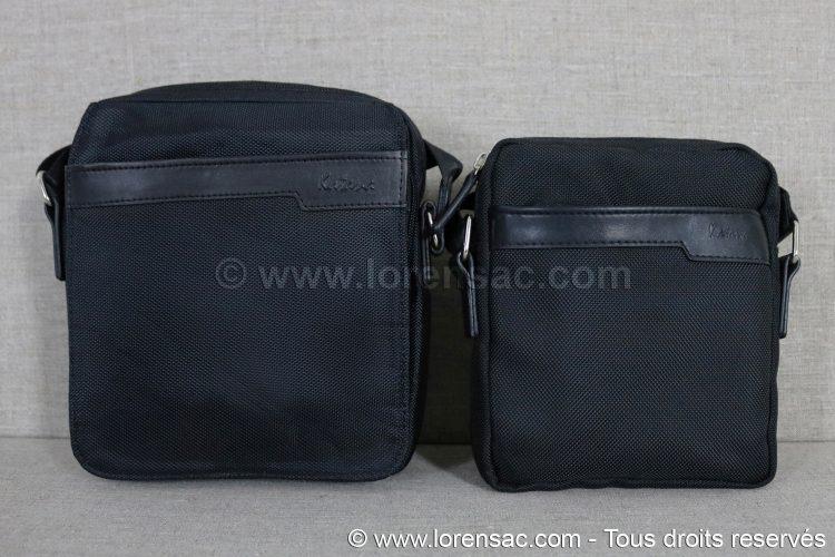 grande et petite pochette katana noire