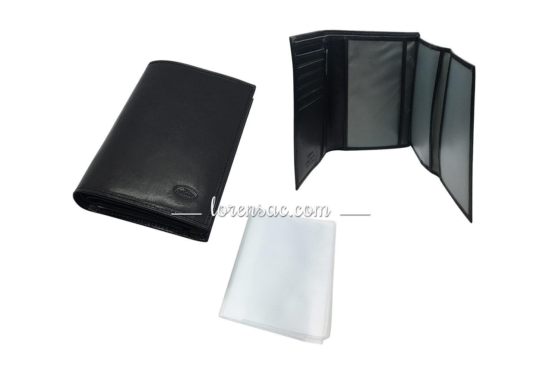 Protège papier et carte grise en cuir